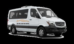 a New York Luxury Bus Charters branded sprinter van